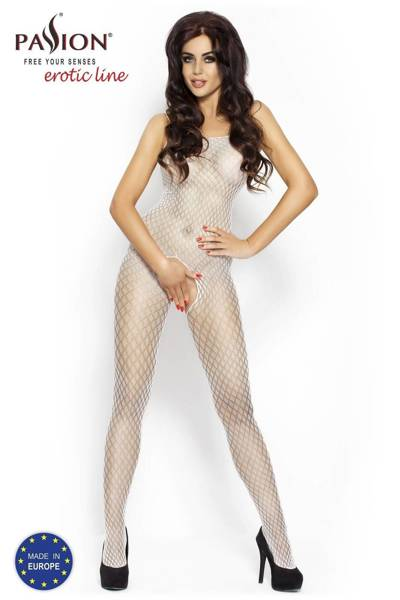 BS010 bodystocking białe Passion Lingerie